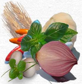 Fresh vegetables ,herbs and spices are used through out Gretwards manufacturing process